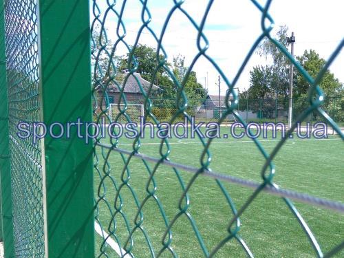 ограждение из сетки рабицы вокруг футбольного поля